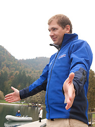 Coach Jan Ilar during media day of Slovenian National rowing team before World Championships in New Zealand 2010 on October 14, 2010 in Mala Zaka, Bled, Slovenia. (Photo by Vid Ponikvar / Sportida)