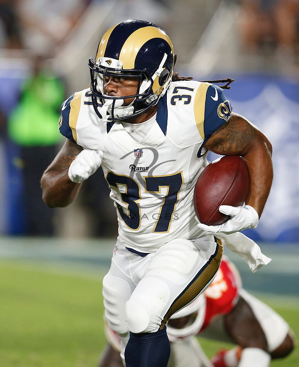 Los Angeles Rams running back Terrence MaGee (37) during a preseason NFL football game against the Kansas City Chiefs, Saturday, Aug. 20, 2016, in Los Angeles. (AP Photo/Rick Scuteri)