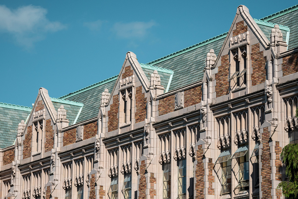 United States, Washington, Seattle, Suzzallo Library on University of Washington main campus