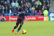 Arsenal midfielder Ainsley Maitland-Niles (15) in action during the Premier League match between Huddersfield Town and Arsenal at the John Smiths Stadium, Huddersfield, England on 9 February 2019.