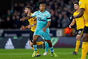 Newcastle United forward Jose Salomon Rondon (9) on loan from West Bromwich Albion in action  during the Premier League match between Wolverhampton Wanderers and Newcastle United at Molineux, Wolverhampton, England on 11 February 2019.