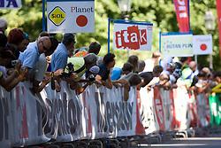 Fans at Ljubljanski Grad at 2nd stage of Tour de Slovenie 2009 from Kamnik to Ljubljana, 146 km, on June 19 2009, Slovenia. (Photo by Vid Ponikvar / Sportida)
