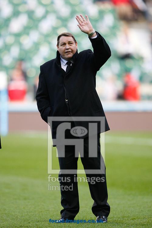 Picture by Andrew Tobin/Focus Images Ltd +44 7710 761829<br /> 16/11/2013<br />  New Zealand head coach Steve Hansen waves during the QBE Internationals  match at Twickenham Stadium, Twickenham.