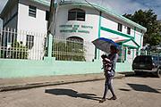 Projet ACOSME pour la santé mère-enfant en Haïti (projet de l'USI et du CECI, financement AMC). Visite du centre de santé Quartier-Morin. Département du Nord.