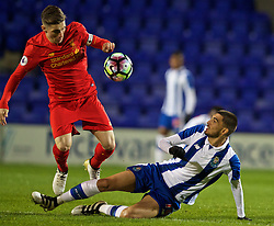 BIRKENHEAD, ENGLAND - Wednesday, November 2, 2016: Liverpool's captain Harry Wilson in action against FC Porto during the Premier League International Cup match at Prenton Park. (Pic by David Rawcliffe/Propaganda)