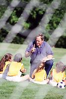 Coaching Young Soccer Players --- Image by © Jim Cummins/CORBIS
