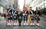 NEW YORK CITY - APRIL 9: Lord Provost of Glasgow at the start of the Tartan Day Parade in New York City.