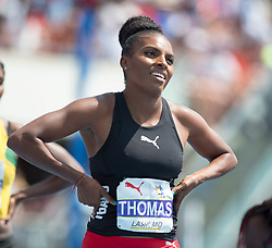 August 12, 2018 - Toronto, ON, U.S. - TORONTO, ON - AUGUST 12: Semoy Hackett (Trinidad and Tobago), 200m at the 2018 North America, Central America, and Caribbean Athletics Association (NACAC) Track and Field Championships on August 12, 2018 held at Varsity Stadium, Toronto, Canada. (Photo by Sean Burges / Icon Sportswire) (Credit Image: © Sean Burges/Icon SMI via ZUMA Press)