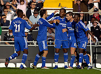 Photo: Daniel Hambury.<br />Fulham v Chelsea. The Barclays Premiership. 23/09/2006.<br />Chelsea's Frank Lampard (2nd right) celebrates his goal with team mates. 0-1.