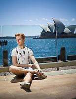 Steven McRae, Principal Performer of the Royal Ballet of London at the Harbour Bar of the Park Hyatt in Sydney