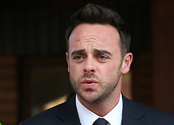 TV presenter Anthony McPartlin outside The Court House in Wimbledon, London, after being fined £86,000 at Wimbledon Magistrates' Court after admitting driving while more than twice the legal alcohol limit.