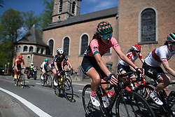 Sylvie Swinkels (NED) of Parkhotel Valkenburg - Destil Cycling Team leans into a corner during the Fleche Wallonne Femme - a 118.5 km road race, starting and finishing in Huy on April 24, 2019, in Liege, Belgium. (Photo by Balint Hamvas/Velofocus.com)