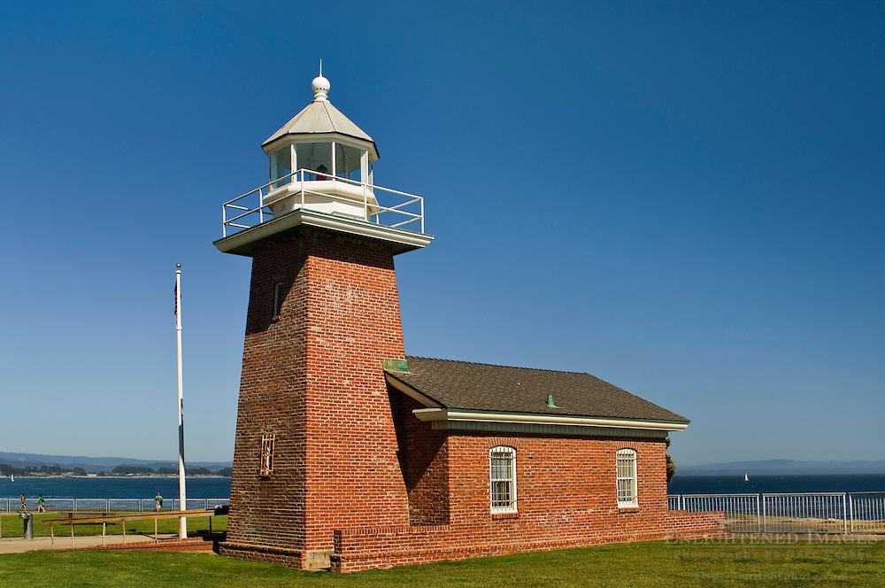 Santa Cruz Lighthouse at Lighthouse State Beach, Santa Cruz, California