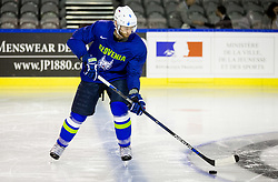 Andrej Tavzelj of Slovenia during practice session of Team Slovenia at the 2017 IIHF Men's World Championship, on May 11, 2017 in AccorHotels Arena in Paris, France. Photo by Vid Ponikvar / Sportida