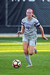 04 November 2016:  Molly Lear during an NCAA Missouri Valley Conference (MVC) Championship series women's semi-final soccer game between the Loyola Ramblers and the Evansville Purple Aces on Adelaide Street Field in Normal IL