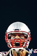 FOXBORO, MA - SEPTEMBER 07:  Tom Brady #12 of the New England Patriots yells as he runs onto the field before the game against the Kansas City Chiefs at Gillette Stadium on September 7, 2017 in Foxboro, Massachusetts.  (Photo by Maddie Meyer/Getty Images)