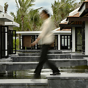 Outside the spa at the Nam Hai luxury resort in Danang, Vietnam.