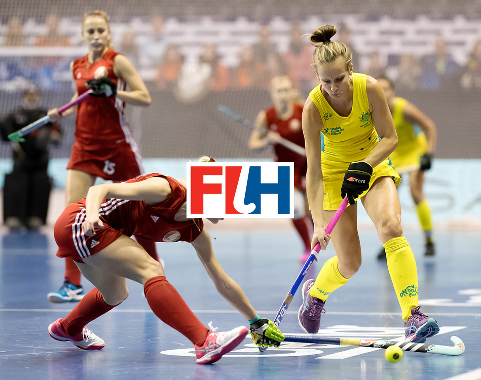 BERLIN - Indoor Hockey World Cup<br /> Quarterfinal 1: Belarus - Australia<br /> foto: McLEISH Emma.<br /> WORLDSPORTPICS COPYRIGHT FRANK UIJLENBROEK