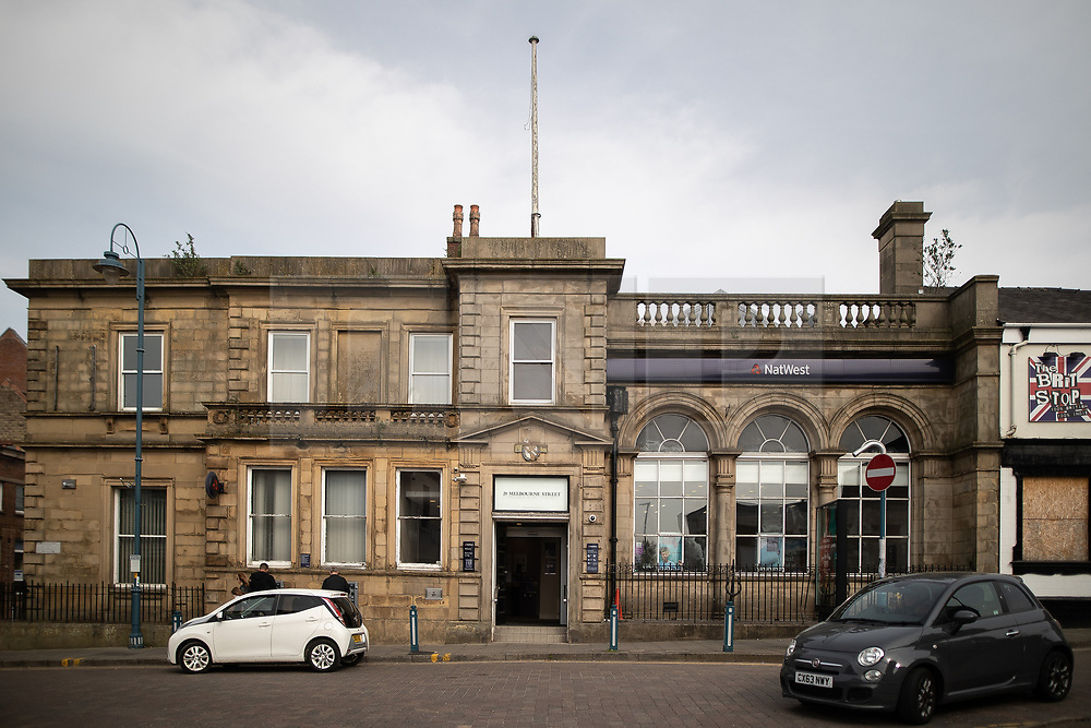 © Licensed to London News Pictures . 18/04/2019. Farnworth , UK . GV of NatWest bank branch in Stalybridge Town Centre - the last remaining bank in Stalybridge . Independent political parties , not tied to existing national parties , are competing for council seats in wards across the North West . Photo credit : Joel Goodman/LNP