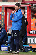Lincoln City Manager Danny Cowley  during the EFL Sky Bet League 2 match between Lincoln City and Exeter City at Sincil Bank, Lincoln, United Kingdom on 30 March 2018. Picture by Mick Atkins.