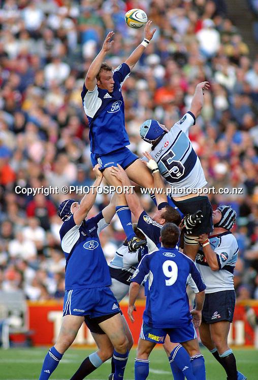 4 April, 2004. Rugby Union Super 12. Eden Park, Auckland, New Zealand. Blues v Waratahs.<br />Angus MacDonald.<br />The Blues won the match, 22 - 17.<br />Pic: Photosport