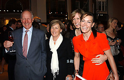 Left to right, CHARLES & PATTI PALMER-TOMKINSON and their daughters SANTA SEBAG-MONTEFIORE and TARA PALMER-TOMKINSON at a party to celebrate the publication of 'Last Voyage of The Valentina' by Santa Montefiore at Asprey, 169 New Bond Street, London W1 on 12th April 2005.<br />