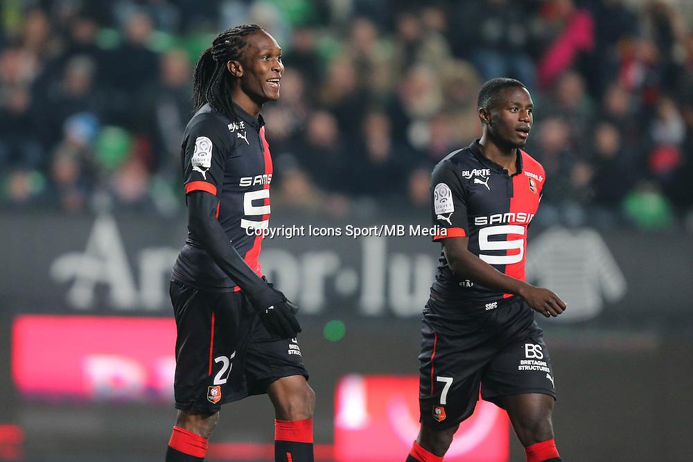 Habib HABIBOU / Paul Georges NTEP - 06.12.2014 - Rennes / Montpellier - 17eme journee de Ligue 1 -<br />Photo : Vincent Michel / Icon Sport