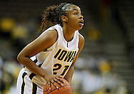 December 22 2010: Iowa guard Kachine Alexander (21) during the first half of an NCAA college basketball game at Carver-Hawkeye Arena in Iowa City, Iowa on December 22, 2010. Iowa defeated Northern Iowa 75-64.