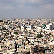 View from the Citadel over the city of Aleppo, Syria