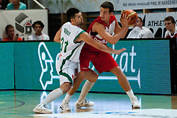 Piotr Pamula of Poland vs Saso Ozbolt of Slovenia at exhibition game between Slovenia and Poland for Primus Trophy 2011Lithuania as part of exhibition games before European Championship L2011on July 23, 2011, in Ljudski Vrt, Ptuj, Slovenia. (Photo by Matic Klansek Velej / Sportida)