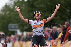 Lucinda Brand (NED) of Rabo-Liv Cycling Team wins the 97,1 km second stage of the 2016 Ladies' Tour of Norway women's road cycling race on August 13, 2016 between Mysen and Sarpsborg, Norway. (Photo by Balint Hamvas/Velofocus)