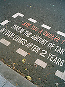 Sign on the curb on Orchard Road