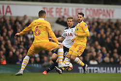 12 March 2017 - The FA Cup - (Sixth Round) - Tottenham Hotspur v Millwall - Eric Dier of Tottenham Hotspur in action with Shaun Williams and Lee Gregory of Millwall - Photo: Marc Atkins / Offside.