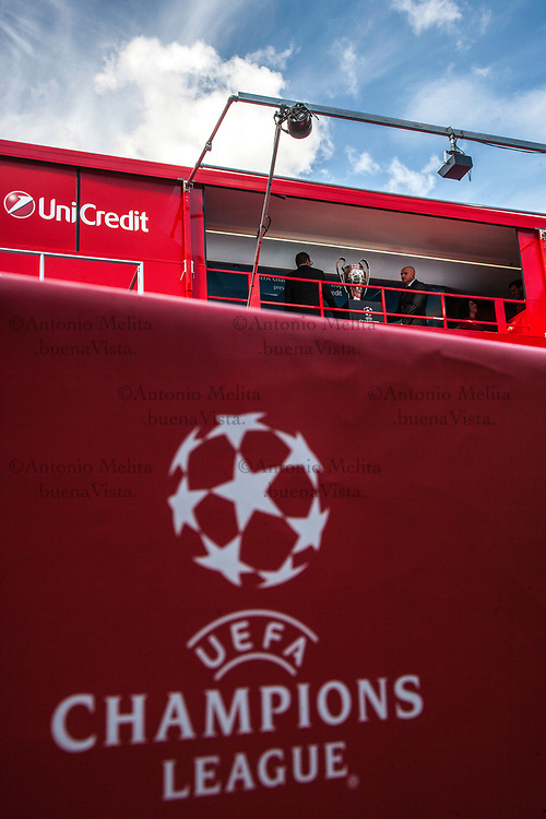 A Palermo, l'UEFA Champions League Trophy Tour, sponsorizzato da Unicredit.