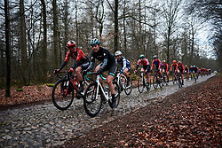 Julie Leth (DEN) across the cobbles at Ronde van Drenthe 2019, a 165.7 km road race from Zuidwolde to Hoogeveen, Netherlands on March 17, 2019. Photo by Sean Robinson/velofocus.com