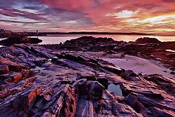 Dawn in New Castle,  New Hampshire.