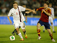 Spain's Illarramendi (r) and Norway's Svensson during international sub21 match.March 21,2013. (ALTERPHOTOS/Acero)