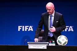 18.03.2016, Zuerich, SUI, Tagung FIFA Exekutivkomitee, im Bild The President of the FIFA Gianni Infantino (SUI) at the FIFA Executive Committee meeting in Zurich // during the FIFA Executive Committee meeting in Zuerich, Switzerland on 2016/03/18. EXPA Pictures © 2016, PhotoCredit: EXPA/ Freshfocus/ Urs Lindt<br /> <br /> *****ATTENTION - for AUT, SLO, CRO, SRB, BIH, MAZ only*****