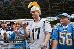 September 26, 2010; Seattle, WA, USA;  San Diego Chargers fans watch warm ups before the game against the Seattle Seahawks at Qwest Field.
