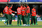 Wicket - Bangladesh celebrate the dismissal of Imam-ul-Haq of Pakistan who was out after hitting his wicket during the ICC Cricket World Cup 2019 match between Pakistan and Bangladesh at Lord's Cricket Ground, St John's Wood, United Kingdom on 5 July 2019.
