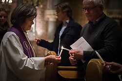 "9 December 2017, Oslo, Norway: In the Trinity Church in Oslo, Norway on 9 December, the World Council of Churches and the Church of Norway hosted an ecumenical prayer service on the occasion of the Nobel Peace Prize ceremony. Oslo hosts the Nobel Peace Prize award ceremony on 9-10 December 2017. The prize in 2017 goes to the International Campaign to Abolish Nuclear Weapons (ICAN), for ""its work to draw attention to the catastrophic humanitarian consequences of any use of nuclear weapons and for its ground-breaking efforts to achieve a treaty-based prohibition of such weapons""."