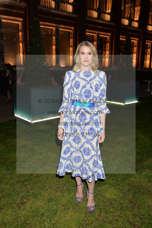 EMERALD FENNELL at the V&A Summer Party in association with Harrod's held at The V&A Museum, London on 22nd June 2016.