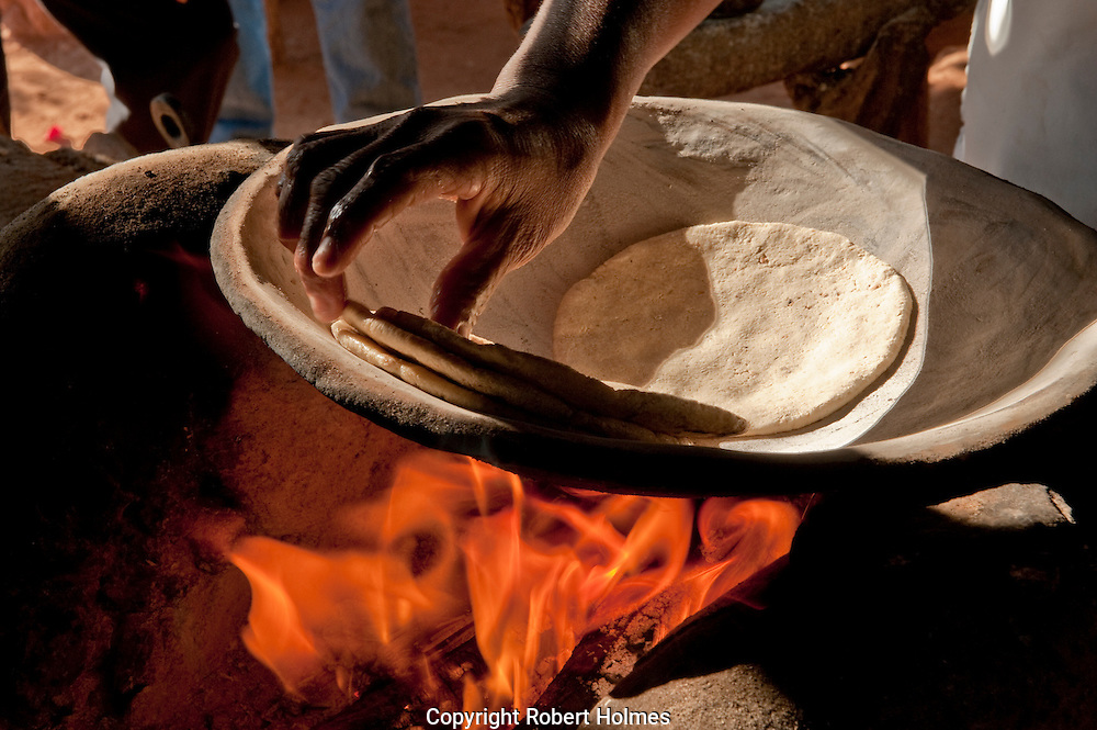 Making corn tortillas at Capomos in the Copper Canyon, Mexico