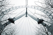 London Eye Millennium Wheel<br /> the landmark tourist attraction the London eye on a misty morning in London