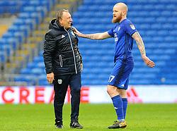 Cardiff City manager Neil Warnock praises Aron Gunnarsson of Cardiff City - Mandatory by-line: Nizaam Jones/JMP- 30/03/2018 -  FOOTBALL -  Cardiff City Stadium- Cardiff, Wales -  Cardiff City v Burton Albion - Sky Bet Championship