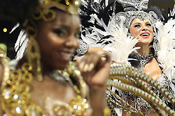 """Dancers of """"Tucuruvi"""" take part in the first night of the parade of samba schools of the Carnival, in the Anhembi Sambadrome, in Sao Paulo, Brazil, on Feb. 13, 2015. EXPA Pictures © 2015, PhotoCredit: EXPA/ Photoshot/ [e]Rahel Patrasso<br /> <br /> *****ATTENTION - for AUT, SLO, CRO, SRB, BIH, MAZ only*****"""
