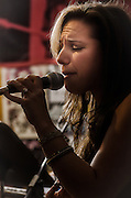 Liv Devine performing during her Birthday Celebration show at The Bus Stop Music Cafe in Pitman, NJ.