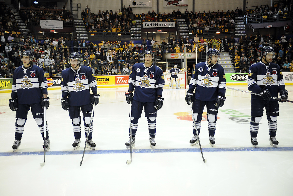 Action from the opening game of the 2012 MasterCard Memorial Cup in Shawinigan, Quebec between the Shawinigan Cataractes and Edmonton Oil Kings on Friday May 18, 2012. Photo by Aaron Bell/CHL Images