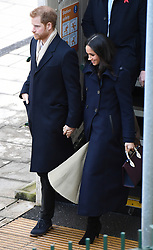 Prince Harry and Meghan Markle arrive at Nottingham Railway Station for a day of engagements in Nottingham, UK, on the 1st December 2017. 01 Dec 2017 Pictured: Prince Harry, Meghan Markle. Photo credit: James Whatling / MEGA TheMegaAgency.com +1 888 505 6342