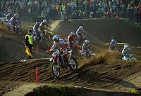 Mantova , 110207 , Starcross Seasonopener  Erstes Kraeftemessen der internationalen Motocrosselite beim Starcross in Mantova.  Start zum Rennen , Maximilian NAGL (KTM , GER) fuehrt das Feld an